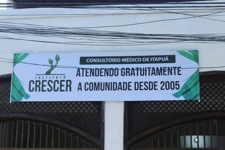 Consultório médico do Instituto Crescer é reinaugurado em Itapuã com atendimentos gratuitos