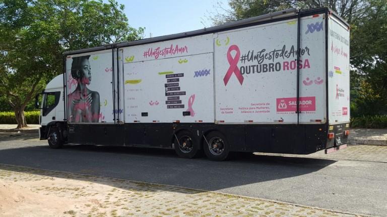 Itapuã recebe ação itinerante do Outubro Rosa com exames gratuitos