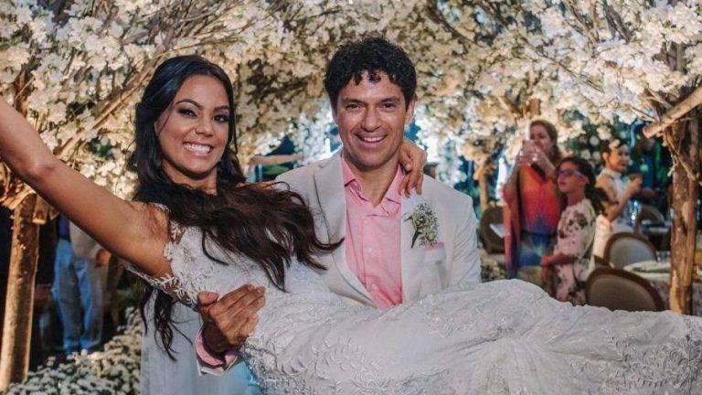 Jorge Vercillo e Martha Suarez se casam em Itapuã