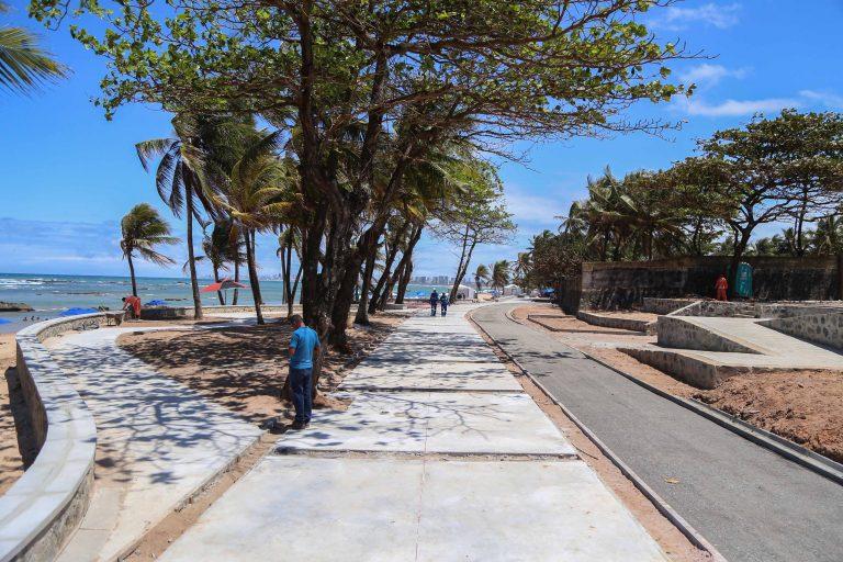 Obras da segunda etapa do entorno Farol de Itapuã estão 80% concluídas