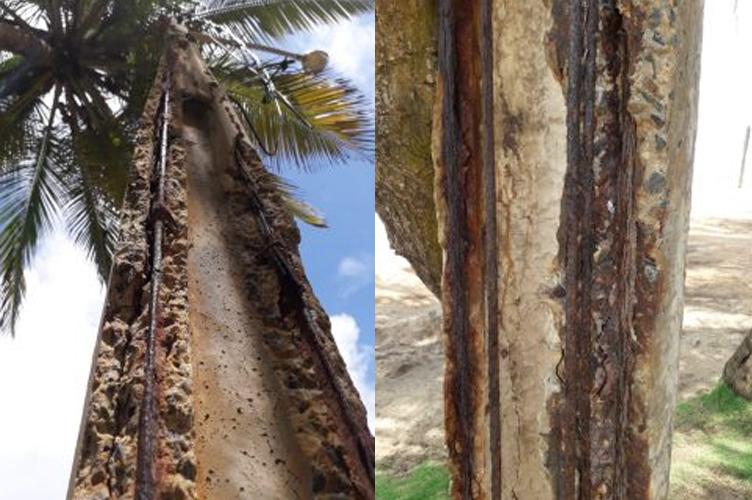 Postes oferecem riscos para moradores de Itapuã