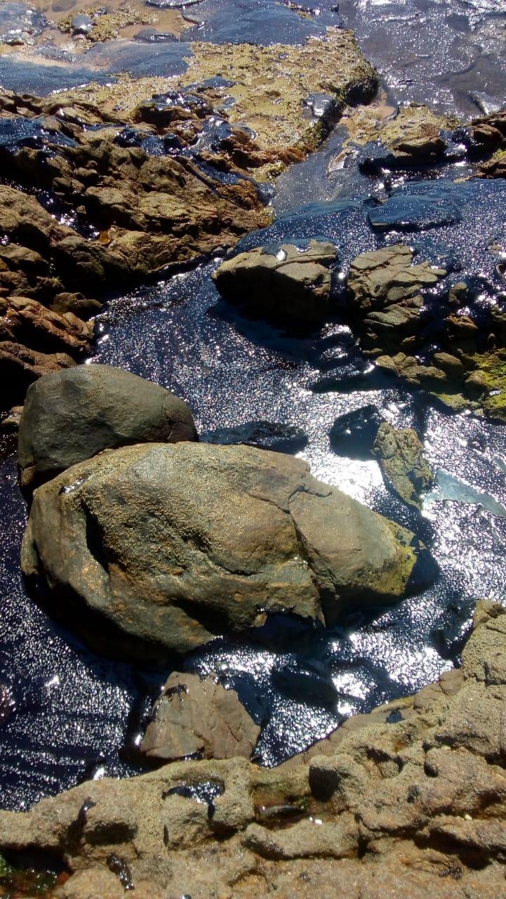 Manchas de óleo chegam às praias de Itapuã