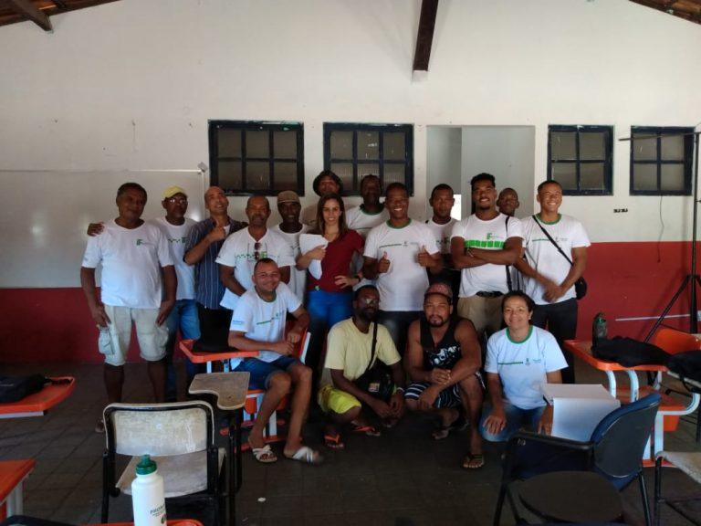 Moradores cumprem mais uma etapa do Curso de Construção Civil no Casarão do Abaeté