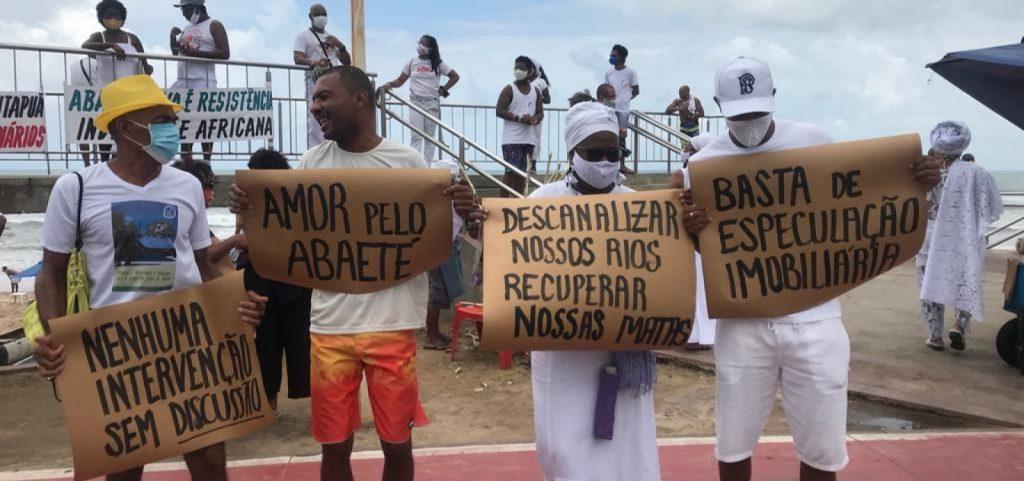 povo de santo e movimentos sociais protestam em defesa do abaete 3